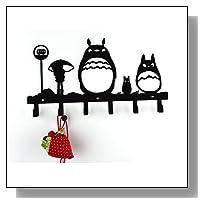 Wander Agio Animal Cat Girl Metal Wall Mounted Bag Hanger Towels Rack Originality Clothing Hooks Sweet Black
