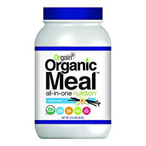 Orgain Organic Plant Based Meal Powder, Vanilla Bean, 2.01 Pounds