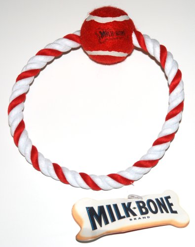 Milk-Bone Rope with Red Ball Play Chew Dog Toy - 7