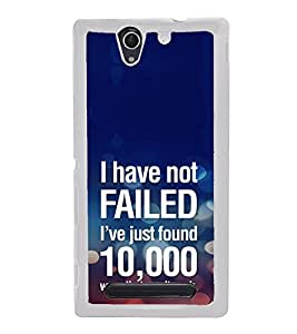 ifasho quotes on success Back Case Cover for Sony Xperia C3