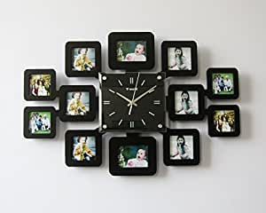 Creative Silent Designer Wall Clock Unique Custom Fashion Photo Frames Design