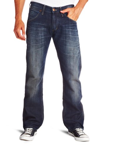 Wrangler Ace Straight Mens Jeans Curb side blue W32InxL32In