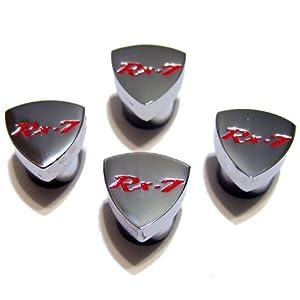 Rotary13B1 – RX-7 Rotor Valve Stem Caps – FB Logo – Red