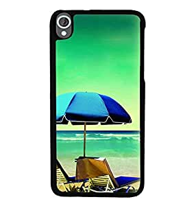 Printvisa Beach Relaxation Pic Back Case Cover for HTC Desire 820::HTC Desire 820Q::HTC Desire 820S
