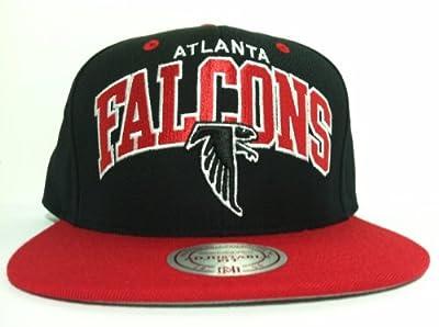 Mitchell and Ness NFL Atlanta Falcons Black Arch Snapback Hat, Cap