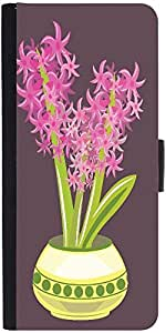 Snoogg Abstract Spring Illustration With Lots Of Flowers Designer Protective Phone Flip Case Cover For Apple Iphone 5 / 5S