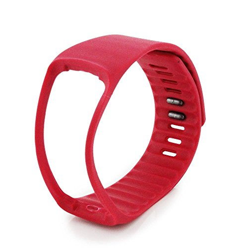 NIUTOP® Bande di ricambio con Metal Clasps per Samsung Galaxy Gear Fit / Wireless Activity braccialetto Sport Wristband / Samsung Galaxy Gear Fit Bracciale Sport Arm Band (No tracker, Replacement Bands Only) (rosso)