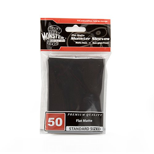 Sleeves - Monster Protector Sleeves - Standard MTG Size Flat Matte - BLACK (Fits Magic and Standard Sized Gaming Cards)