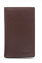 Rene Genuine Leather Brown Color Card Holder with 12 slots