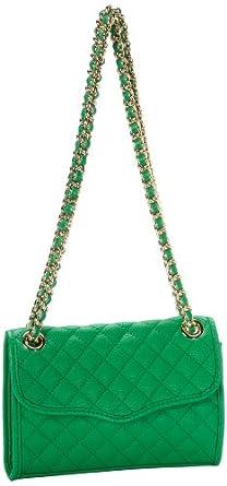 Rebecca Minkoff Mini Affair-Diamond Quilt H324I001 Shoulder Bag,Green,One Size