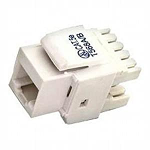 Black Point Products BT-191 White Cat-5E Keystone Jack, White