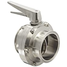 "Dixon B5101E400CC-C Stainless Steel 316L Butterfly Valve with Trigger Handle and EPDM Seal, 4"" Tube OD"