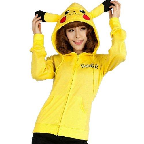 Pocket Monster Pikachu Hoodie Sweater Cosplay Unisex Costume