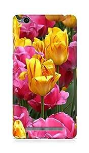 Amez designer printed 3d premium high quality back case cover for Xiaomi Redmi 3S (Colorful Tulip Flowers)
