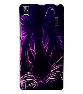 ColourCraft Digital Lion Design Back Case Cover for LENOVO A7000