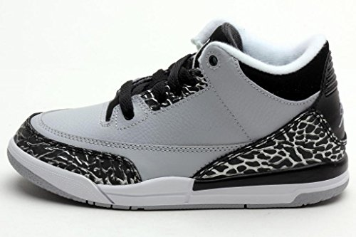 Nike Air Jordan 3 Retro (Ps) Wolf Grey/Metallic Silver-Black-White 429487-004 (10.5C-3Y) (11C) front-1053609