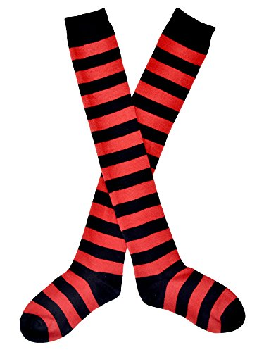 Simplicity Ladies Striped Over the Knee Thigh High Socks Stockings