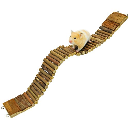 NiteangeL Suspension Bridge for Hamsters, Small Pet Ladder, 21.8″ x 2.8″ 41FR1 z1XBL