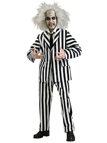 Super Deluxe Beetlejuice Costume - Standard - Chest Size 40-44