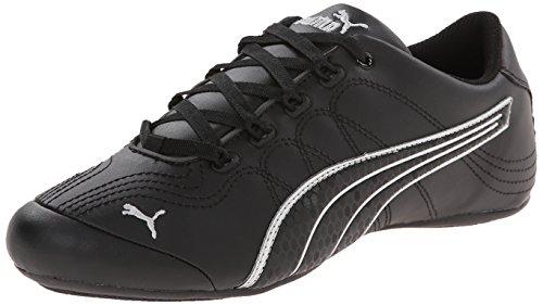 PUMA Women's Soleil V2 Comfort Fun Classic Sneaker, Black/Puma Silver, 8.5 B US