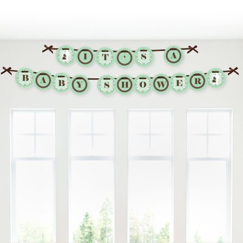 Silhouette Couples It'S A Baby - Baby Shower Garland Banners front-678963