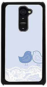 PrintVisa Pattern Cute Birds Blue Case Cover for LG G2
