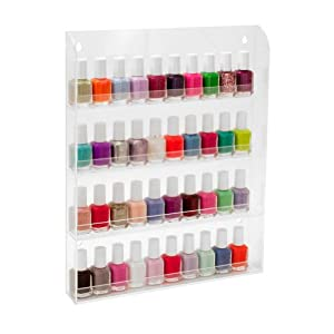 Amazon.com: 40 Bottles Clear Acrylic Nail Polish Salon