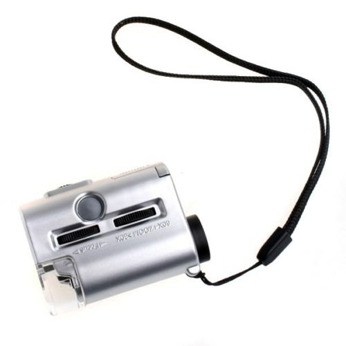 30X 60X Mini Pocket Magnifier Microscope Jewelers Loupe With Led & Uv Light