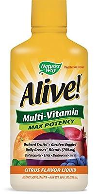 Nature's Way, Alive!, Liquid Multi, Vitamin & Mineral, Natural Citrus Flavor, 30 fl oz (900 ml)