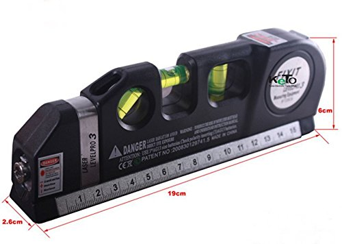 Laser Level Meter Horizontal Vertical MeasuringInstrument Tool Detector CAD (Pan Am Badge compare prices)