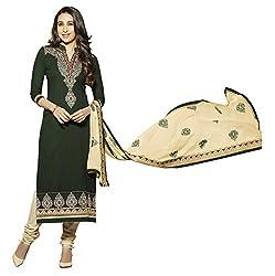 Vaidehi Fashion Green And Cream Dress Material