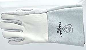 Tillman 750 Premium Top Grain Elkskin Welding Gloves, Left Hand Only,