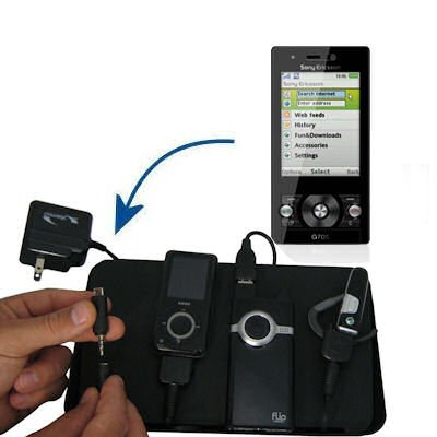 Gomadic Advanced Sony Ericsson G705 4-port Charging Station - Uses TipExchange Technology to charge up to four devices simultaneously