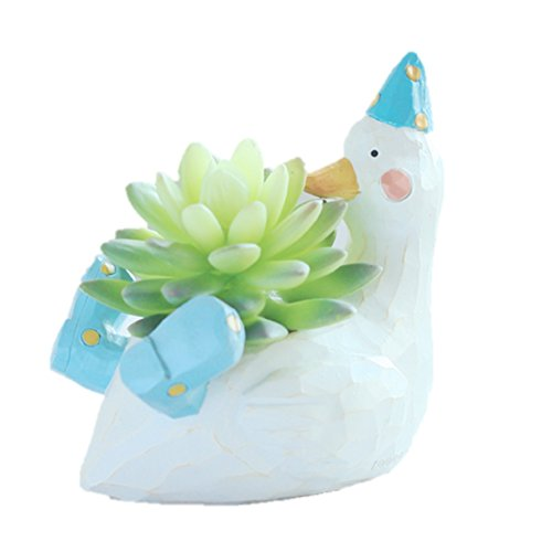 LightningStore Cute White Duck Green Dinosaur Unicorn Alligator Crocodile Blue Elephant Whale Succulent Plants Personalized Office House Balcony Landscape Creative Decorative Flower Pots