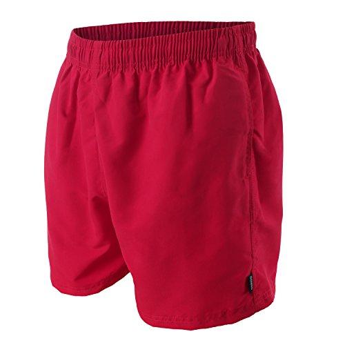 OAHOO - Boxer da mare da uomo - rosso scuro - S
