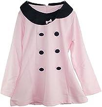 Little Girls Shirts Pink Long Sleeve Princess Dress