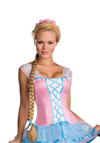 Rapunzel Come Unbraided Wig Costume (Blonde;One