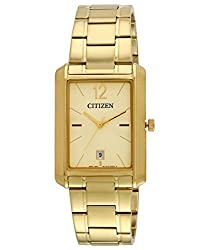 Citizen Analog Gold Dial Mens Watch - BD0032-55P