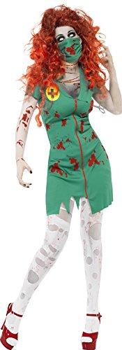 [Smiffys Women's Zombie Scrub Nurse Costume] (Zombie Nurse Costumes)