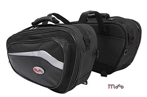 Borse Moto - Borse laterali moto accoppiano con 44L alla capacità 60L, Borse valigie Scooter