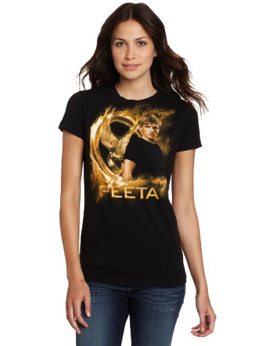 FEA Juniors Hunger Games Movie Gold Fire Peeta Tissue Tee