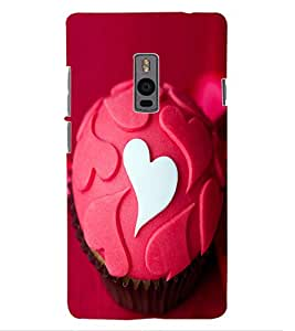 ColourCraft Love Muffin Design Back Case Cover for OnePlus Two