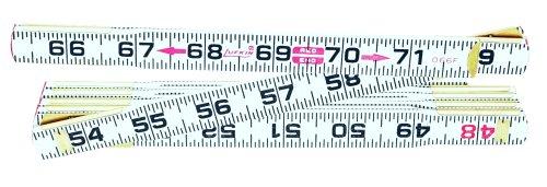 Lufkin 066FN 6-Flat Read Wood Folding Rule
