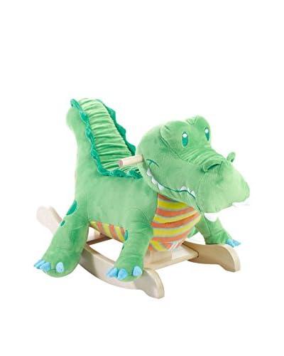 Rockabye Kid's Kyle Crocodile Ride-On Rocker