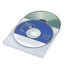 ロアス 両面不織布CD&/DVDケース (110枚入) ホワイト DVD-A002-110W