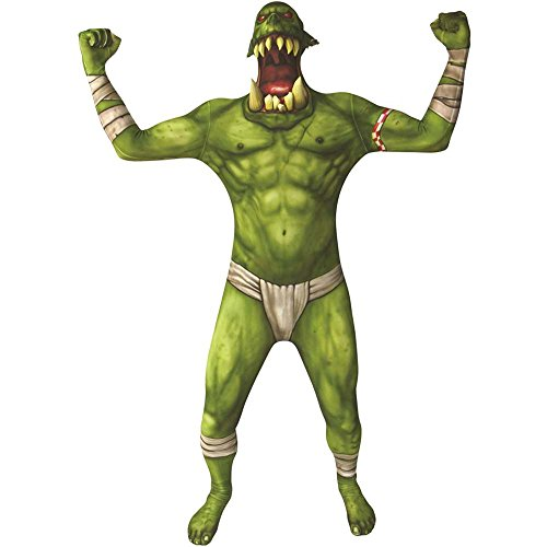 Green Orc Jaw Dropper Morphsuit Kids Costume