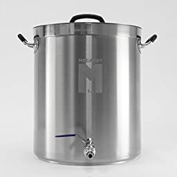 MegaPot 1.2 Stainless Steel Brew Kettle Pot - 10 Gallon w/ Ball Valve - 40 Quart