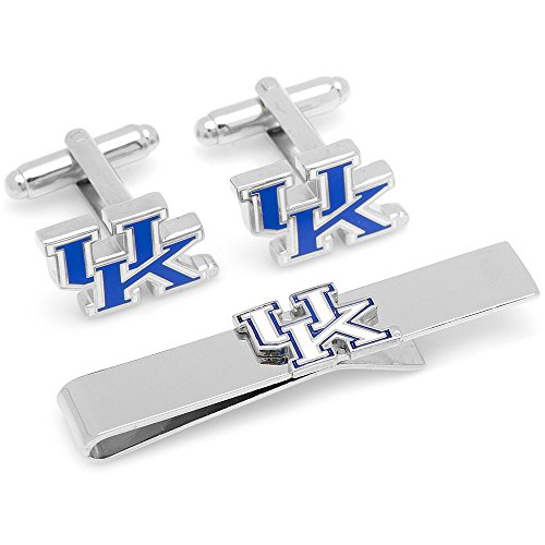 Ncaa Mens University Of Kentucky Cufflinks & Tie Bar Gift Set (Silver-Tone)