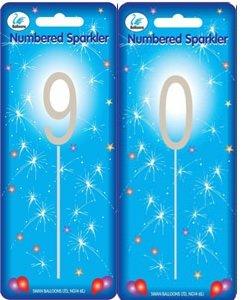 Sparkler Sparkling Number Birthday Cake Candle 90