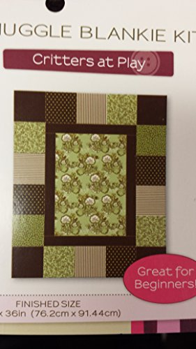 Creative Cuts Critters At Play Snuggle Blankie Kit, Brown